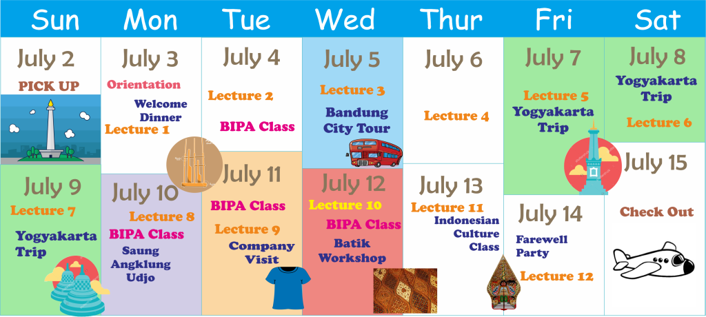 Schedule Summer School